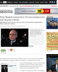 Peter Madoff sentenced to 10 years in prison: Christian Science Monitor